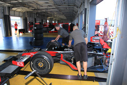 Andretti Autosport team members at work