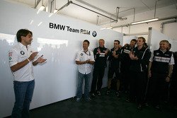 Augusto Farfus BMW Team RBM BMW 320si celebrate his birthday with the Team