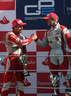 Podium: race winner Sam Bird, second place Jules Bianchi