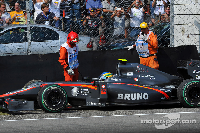 Problemen Bruno Senna, Hispania Racing F1 Team, HRT