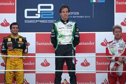 Podium: race winner Christian Vietoris, second place Jerome d'Ambrosio, third place Sam Bird