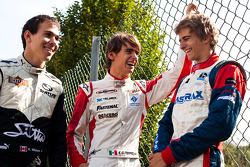 Esteban Gutierrez, Robert Wickens and Nico Muller, 1st, 2nd and third in the Championship
