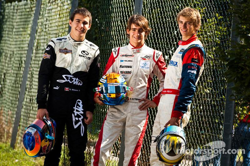 Le podium du GP3 Series 2010