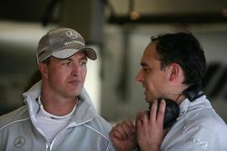 Ralf Schumacher, Team HWA AMG Mercedeswith his engineer