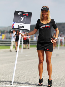 F2 grid girl for Will Bratt