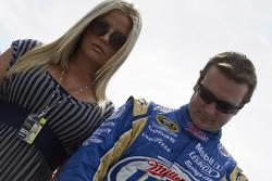 Kurt Busch, Penske Racing Dodge and his wife, Eva Busch