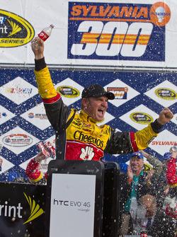 Victory lane: race winner Clint Bowyer, Richard Childress Racing Chevrolet celebrates