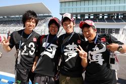 Fans van Kamui Kobayashi, BMW Sauber F1 Team