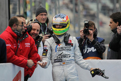 Second place Roberto Merhi, Muecke Motorsport Dallara F308 Mercedes