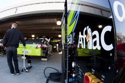 Roush Fenway Racing Ford garage area