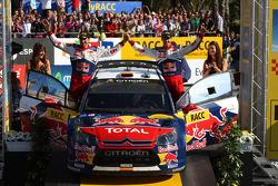 Podium: third place Daniel Sordo and Diego Vallejo, Citroën C4 Citroën Total World Rally Team