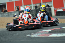 GT1 Karting in Navarra: Christoffer Nygaard holds off the challenge by Johnny Herbert