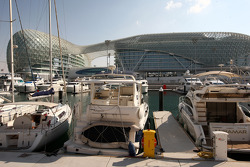 The YAS hotel, views of the paddock