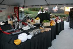 Asphalt Chef event: cooking area
