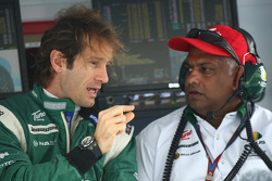 Jarno Trulli, Lotus F1 Team and Tony Fernandes, Lotus F1 Team, Team Principal