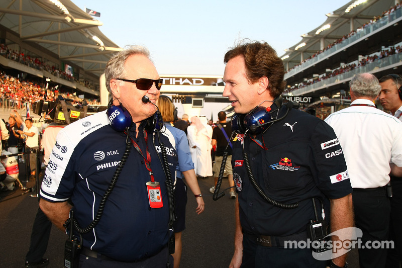 Patrick Head, WilliamsF1 Team, Director of Engineering and Christian Horner, Red Bull Racing, Sporting Director