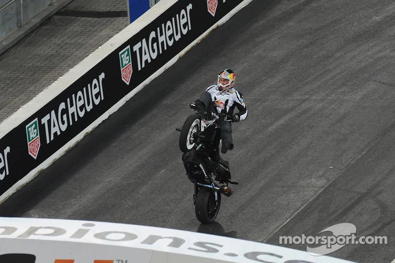 Chris Pfeiffer op zijn motorfiets