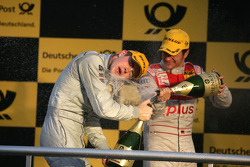 Podium: second place Paul di Resta, Team HWA AMG Mercedes, third place Timo Scheider, Audi Sport Team Abt