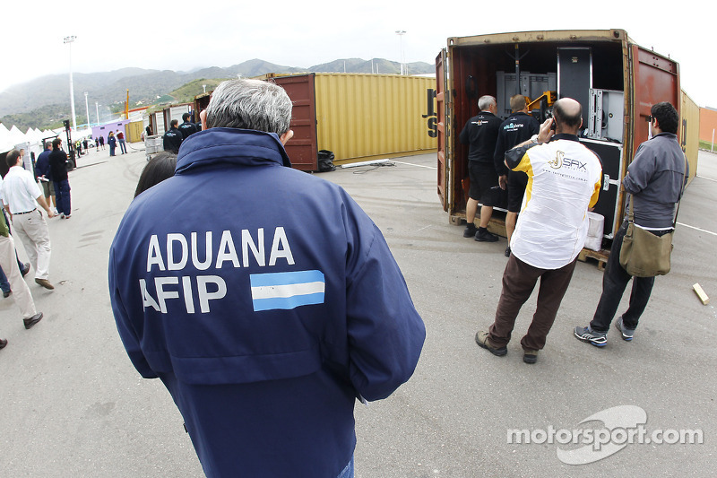 Containers arriveren in San Luis