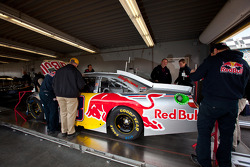 Car of Brian Vickers, Red Bull Racing Team Toyota at technical inspection