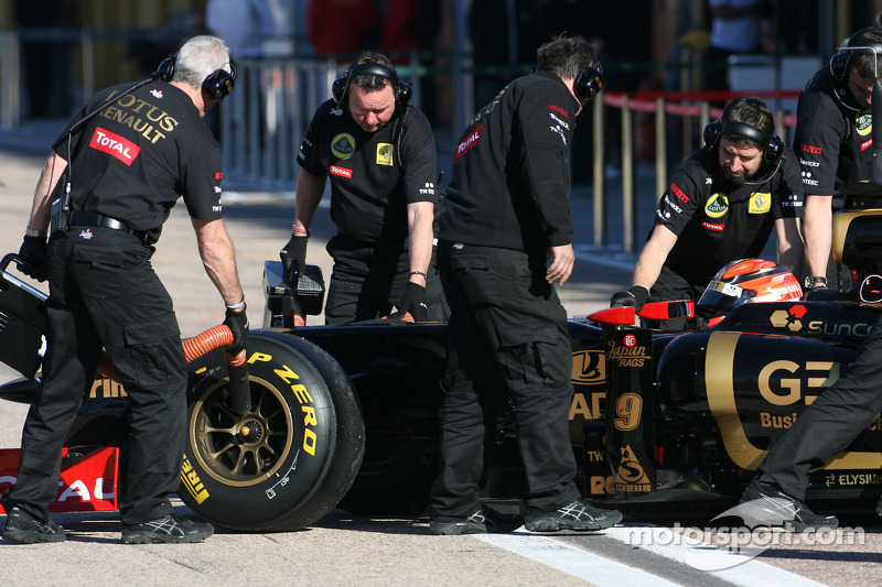 Роберт Кубіца, Lotus Renault GP, на тестах у Валенсії