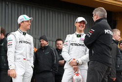 Nico Rosberg, Mercedes GP F1 Team, Michael Schumacher, Mercedes GP F1 Team and Ross Brawn Team Principal, Mercedes GP