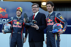 Sebastian Vettel, Red Bull Racing; Mark Webber, Red Bull Racing