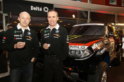 Delta Q BMW X-Raid presentation: Stéphane Peterhansel and Jean-Paul Cottret