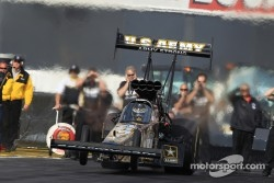 Tony Schumacher aboard his DSR US Army Top Fuel Dragster