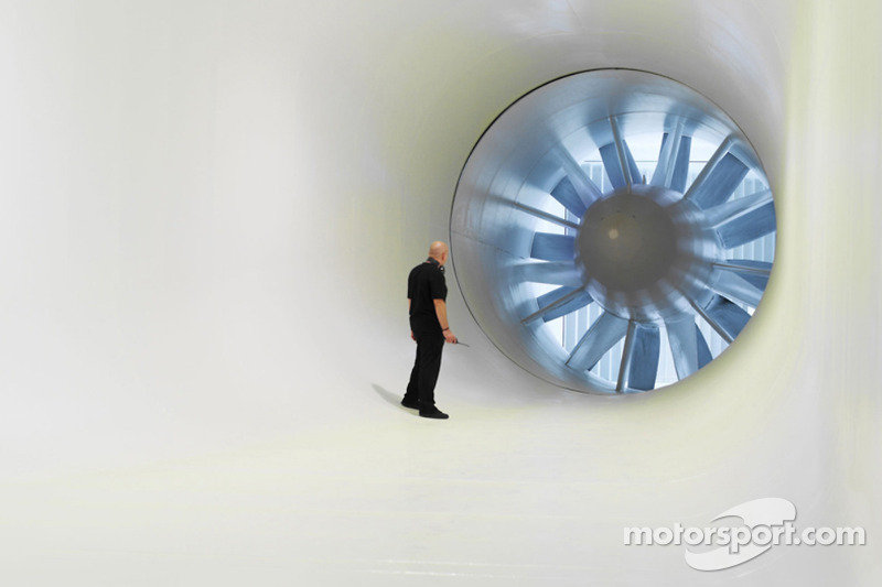 Wind tunnel.