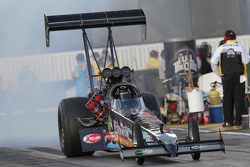 Steve Chrisman doing a burnout in his Nitrofish Top Fuel Dragster