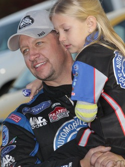 Robert Hight celebrates with his daughter