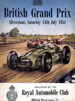Постер до Гран Прі Великої Британії 1951 року