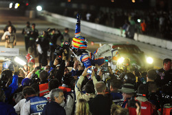 Loic Duval celebrates victory