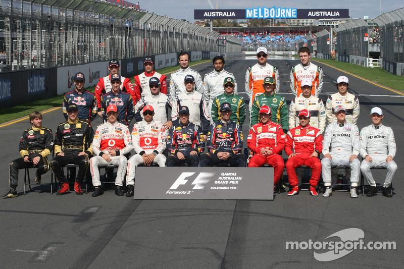 Familiefoto: de klas van 2011 in de Formule 1
