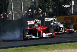 Felipe Massa, Scuderia Ferrari y Sergio Perez, Sauber F1 Team