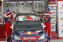 Podium: winners Sébastien Ogier and Julien Ingrassia, Citroen DS3 WRC, Citroen Total World Rally Team