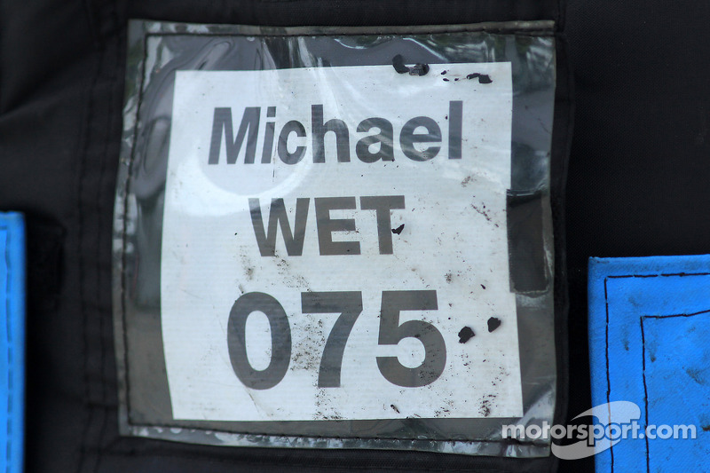 Michael Schumacher wet trye