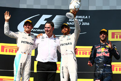 Podium: Sieger Lewis Hamilton, Mercedes AMG F1 Team; 2. Nico Rosberg, Mercedes AMG F1 Team; 3. Daniel Ricciardo, Red Bull Racing