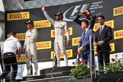 Podium: Sieger Lewis Hamilton, Mercedes AMG F1 Team; 2. Nico Rosberg, Mercedes AMG F1 Team; 3.Daniel Ricciardo, Red Bull Racing