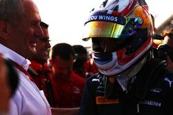 Pierre Gasly, PREMA Racing met Dr. Helmut Marko