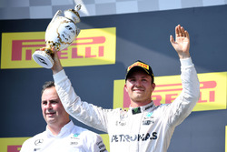 Подіум: друге місце Ніко Росберг, Mercedes AMG F1 Team
