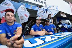 #1 Suzuki Endurance Racing Team, SERT: Vincent Philippe, Anthony Delhalle, Etienne Masson sign autographs for the fans