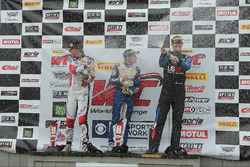 Podium Porsche GT3: 1. #17 Global Motorsports Group, Porsche 911 GT3 Cup: Alec Udell; 2. #20 TruSpeed Autosport, Porsche 911 GT3 Cup: Sloan Urry; 3. #00 Motorsports Promotions, Porsche 911 GT3 Cup: Corey Fergus