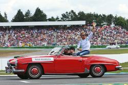 Nico Rosberg, Mercedes AMG F1 nella parata dei piloti