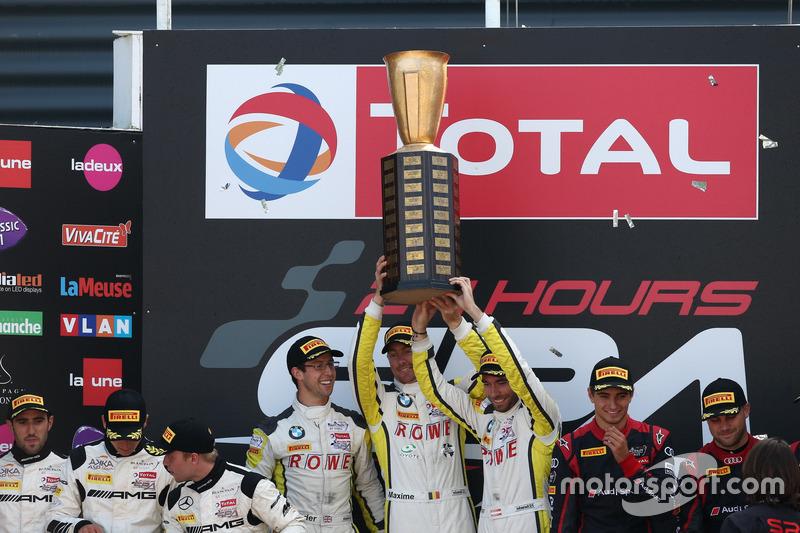 I vincitori #99 Rowe Racing, BMW M6 GT3: Maxime Martin, Philipp Eng, Alexander Sims