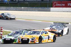 #24 kfzteile24 - APR Motorsport, Audi R8 LMS: Florian Stoll, Laurens Vanthoor; #50 YACO Racing, Audi R8 LMS: Philip Geipel, Rahel Frey