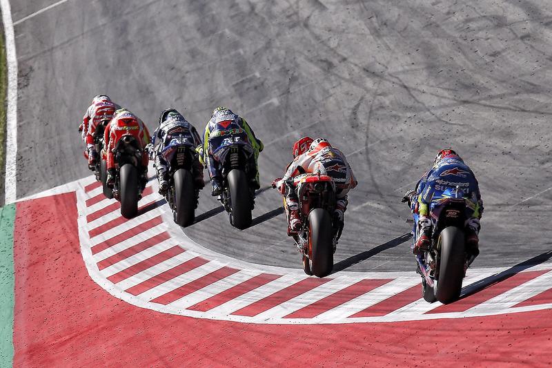 Marc Márquez, Repsol Honda Team, Valentino Rossi, Yamaha Factory Racing, Jorge Lorenzo, Yamaha Factory Racing, Andrea Iannone, Ducati Team, Andrea Dovizioso, Ducati Team