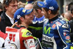 Tweede Valentino Rossi, Yamaha Factory Racing met racewinnaar Cal Crutchlow, Team LCR Honda