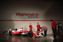 Teampräsentation von Mahindra Racing mit den Fahrern Felix Rosenqvist und Nick Heidfeld